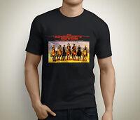 New Magnificent 7 New Movie Denzel Washington Men's Black T-Shirt Size S to 5XL