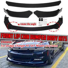 3x Front Bumper Lip Spoiler Lower Splitters For Dodge Charger Rt Sxt 2015-2020