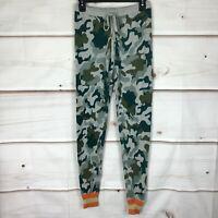 Aqua Camouflage Knit Drawstring Waist Womens Size Small Casual Jogger Pants