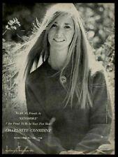 1968 Charlotte Considine photo Gunsmoke TV show vintage trade print ad