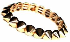 Spike Stretch Bracelet. Funky Goth Jewellery, Gold Coloured  Bracelet, UK Seller