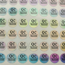 450 Laser QC PASSED Label Sticker for 10mm home appliances and other industries