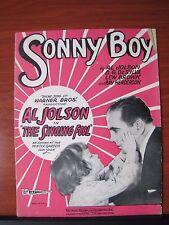 "Sonny Boy- Al Jolson ""The Singing Fool"" - 1928 sheet music - Piano Ukulele Vocal"