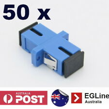 50x Fibre Optic SC connector Singlemode thru-connector SIMPLEX SC Coupler Joiner