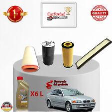KIT TAGLIANDO 4  FILTRI E OLIO BMW SERIE 3 E46 320 D 110KW 150CV DAL 2002 ->