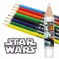 DISNEY STAR WARS - Jumbo Colouring Pencils Set Tube - Storm Trooper Case