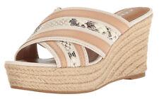 New COACH Florentine Leather Women Wedge Shoes Sz 8.5