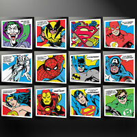 SUPER HEROES COLLECTION CANVAS PRINT PICTURE WALL ART BATMAN SPIDERMAN SUPERMAN
