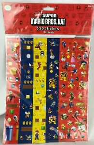 350 Nintendo Super Mario Bros WII Stickers NEW - Bowser Toad Luigi - 2011