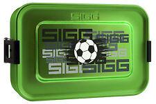 Sigg Vesper-dose Alu box Lunchbox fútbol aluminio de existencias lata escuela camping