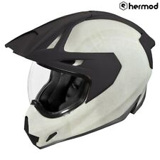Icon Variant Pro Dual Sport Full Face Motorcycle Helmet - Construct White