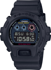 G-Shock DW6900BMC-1 Digital Tokyo Street Scene 3 Dial Jet Black Neon Flash Watch