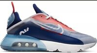 Nike Air Max 2090 Shoes White Chile Red Deep Royal Blue CT1091-101 Mens Size 10