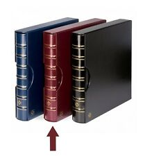 Lighthouse Maximum Extra Wide Binder and Slipcase Burgundy For Stamps & Postcard