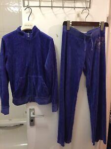 Juicy Couture Ladies Purple Velour Tracksuit Size 14