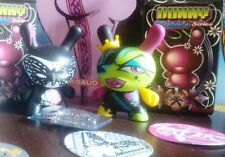 Lot x2 Figurine - Kidrobot Dunny 2010 Fatale Series - by Toofly + Lady Aiko