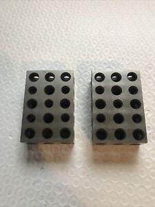 Machinist Tools  1-2-3 Gauge Precision Blocks Hardened Ground Steel