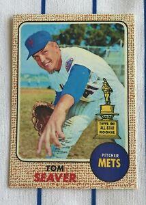 """1968 Topps Tom Seaver - Lefty Error Card """"Cards That Never Were"""" Custom Art Card"""