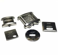 Cartier watch Steel Case Back Case with Crystal 5 Pieces Lot watch parts