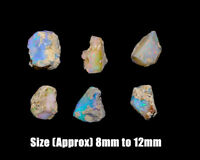 Handmade Natural Rough Fire Opal Loose Gemstones Crystal Jewelry Making Stone