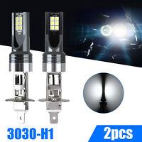 2x H1 LED Fog Light Lamp Headlight Kit 100W 14000LM High Beam Bulbs 6000K White