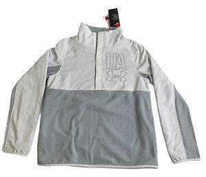 Under Armour Coldgear 3/4 Snap Up Pullover Sweatshirt Fleece Lined Girls LG