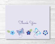 Lavender Butterfly Garden Thank You Card Printable
