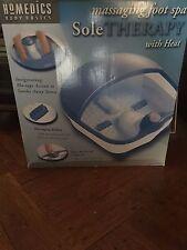 HomEdics Body Basics Massaging Foot Spa Bath SOLE THERAPY w Heat Acupressure New