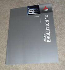 Mitsubishi Lancer Evolution IX Brochure 2005 - Evo 9 FQ-300 FQ-320 FQ-340
