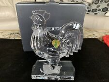 """Waterford Crystal Rooster Sculpture 6.25"""" Collectible New # 40027970"""