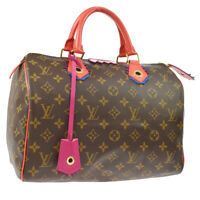 LOUIS VUITTON SPEEDY 30 FLAMINGO HAND BAG MONOGRAM TOTEM M41665 AK31714f