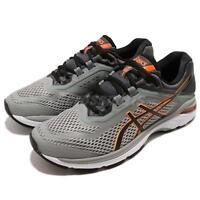 Asics GT-2000 6 Grey Black Orange White Men Running Shoes Sneakers T805-N020