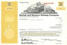 action américaine - Norfolk and Western Railway Compagny 100 Shares 1978