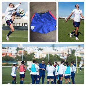 NIKE USA WOMENS SOCCER NATIONAL 2015 PLAYER ISSUED TRAINING SHORTS S