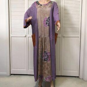 Vintage Kusnadi Bohemian Art to Wear Dress One Size