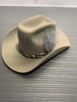 Vintage Tan Trail Ridge Cowboy Hat Size 6.7/8  Made In USA