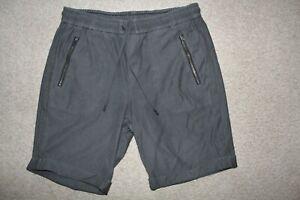 Womens Sz 10 Athleta Bermuda Sewn Cuff Running Cotton Shorts Gray Zip Pockets