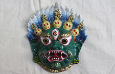 M845 Nepalese well Crafted Wall Hanging Metal art decor Multi color Bhairav MASK