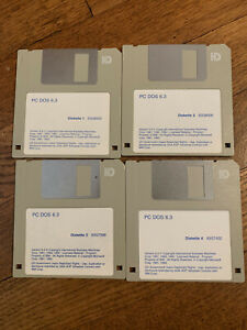 OEM IBM PC DOS 6.3 Computer DOS Bootable Disc set 1.44MB 3.5""