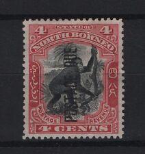 North Borneo Post Due 4c Black and carmine SG D16 Mint no Gum
