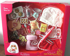 "American Our Generation 18"" Girl Doll MASTER BAKER Kitchen Cooking Food CHEF Set"