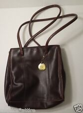 "Nine West Women Brown Leather Bag 13x9x2.5"" Genuine leather handbag"