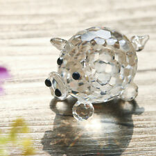 Clear Pig Animal Figurine Crystal Paperweight Wedding Collectibles Gifts 40mm