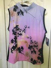 NWT Terry Bicycle Women's Jersey Sleeveless Top Mandarin XXL Orchid