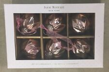 Pink Beveled MERCURY Glass Christmas Ornaments Kugel Vintage 6 Isaac Mizrahi