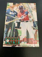 Michael Jordan LARGE White Border 1991 Gold RBI PROTOTYPE Promo Card #1P