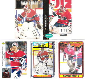 Patrick Roy 90s VINTAGE NHL Hockey Cards LOT GREATEST GOALTENDER EVER