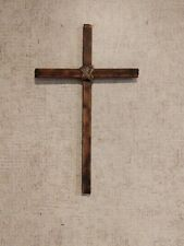"15"" Hand cut ,Milled & Charred Wooden Crosses for Church or Home"