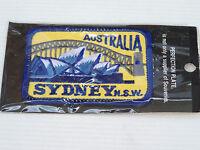 VINTAGE SYDNEY NSW AUSTRALIA EMBROIDERED SOUVENIR PATCH WOVEN CLOTH BADGE