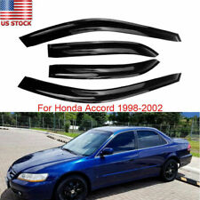 Fits 1998 1999 2000 2001 2002 Honda Accord Sedan Window Visors Rain Guard Shade